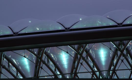 Pôle Confluence, Lyon, France - Architecte : Jean Paul Viguier - Conception lumière : Alexis Coussement, Charles Vicarini - Photo : Vincent Laganier