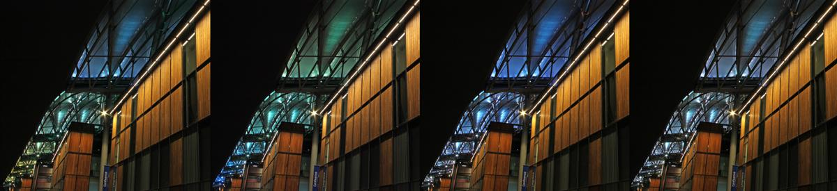 Pôle Confuence, Lyon, France - Architecte : Jean Paul Viguier - Conception lumière : Alexis Coussement, Charles Vicarini - Photo : Vincent Laganier