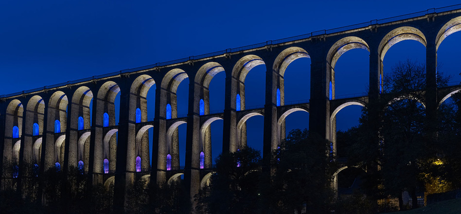 Viaduc de chaumont mise en lumi re du patrimoine en haute for Chaumont haute marne