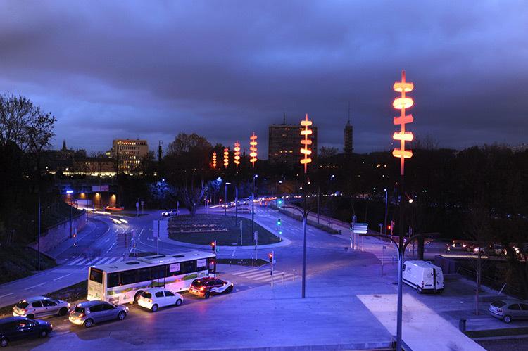 Onde chromatique, boulevard de la Seille, Metz © L'Atelier Lumière