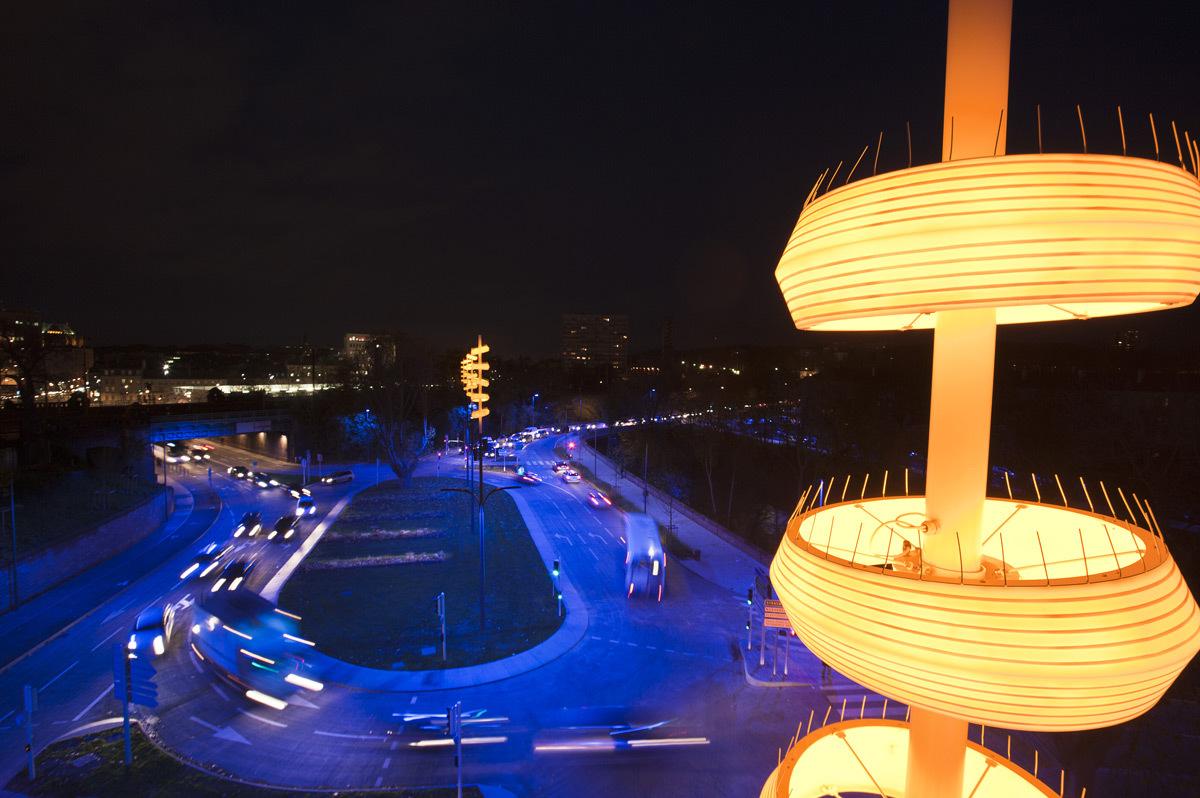 Boulevard de la Seille, Metz - Concepteur lumière et photo : L'Atelier Lumière