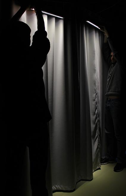 Direction de lumi re douche frisante for Luminaire de douche