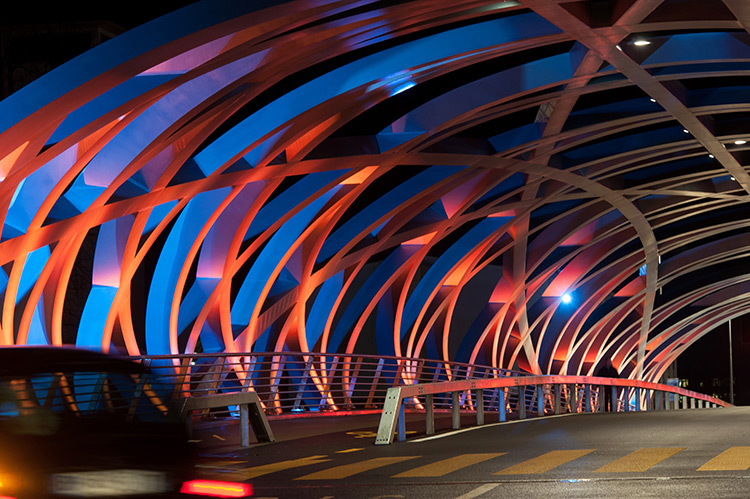 PHW tubular twilight, Genève, Suisse - François Gschwind, Atelier du crépuscule - Photo Michel Djaoui
