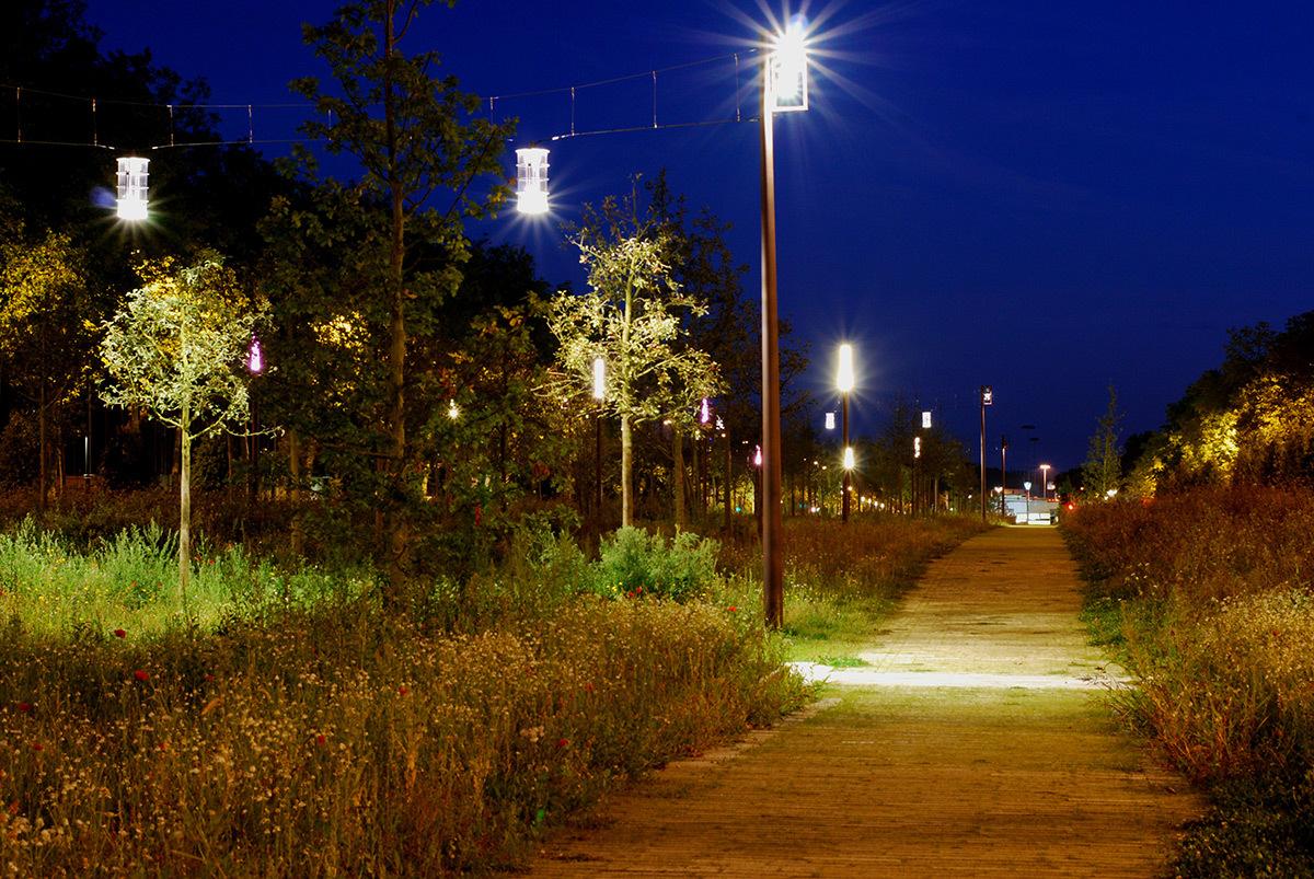 Avenue H. Freville, Rennes, France - Paysagistes urbanistes Agence Laverne - Concepteur lumière et photo 8'18''