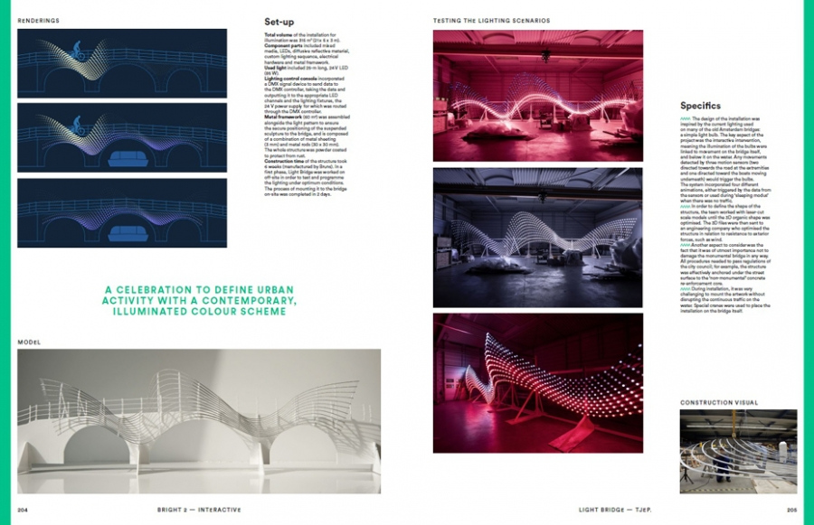 Pages 204-205 extraites du livre : Bright 2 Architectural Illumination and Light Installations, Frame Publishers