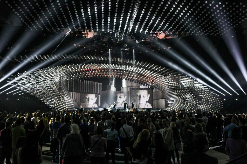Eurovision 2015 Création lumière et scénographie © Elena Volotova (EBU)