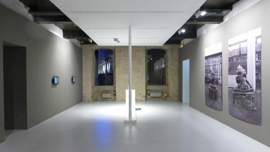 Guillaume Pinard, Biorythme, 2015, Les Lutteurs, 2015 - Un trou dans le décor - Le Quartier, Quimper, France - Photo Vincent Laganier
