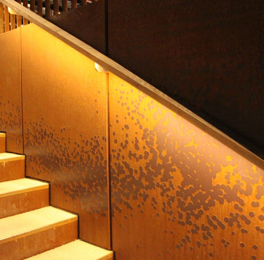 Expo 2015, UK Pavilion, Milan, Italy - Handrail detailled - Lighting designer BDP - Photo Vincent Laganier