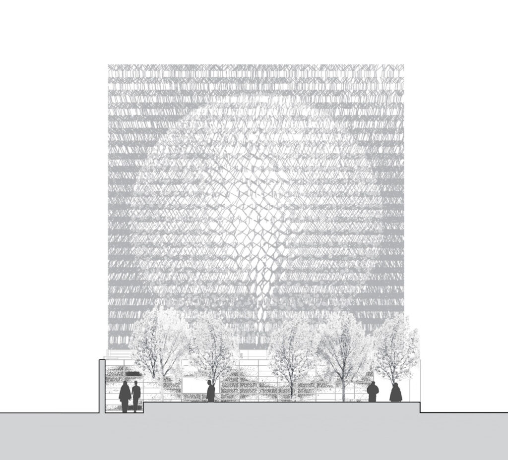 Expo 2015, UK Pavilion, Milan, Italy - Short section daytime - Architectes BDP Artist Wolfgang Buttress - Copyright BDP