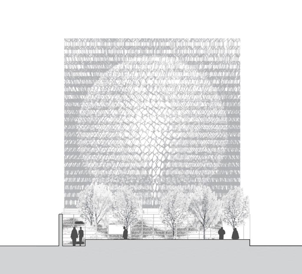 Expo 2015, UK Pavilion, Milan, Italy - Short section daytime - Architectes BDP Artist Wolfgang Buttress - Copyright BDP