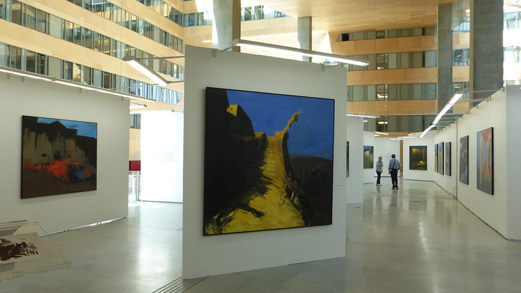 Vers la fin de l'exposition - Patrice Giorda, l'espace de la lumière, 83-2015 - Hôtel de Région Rhône-Alpes - Photo Vincent Laganier