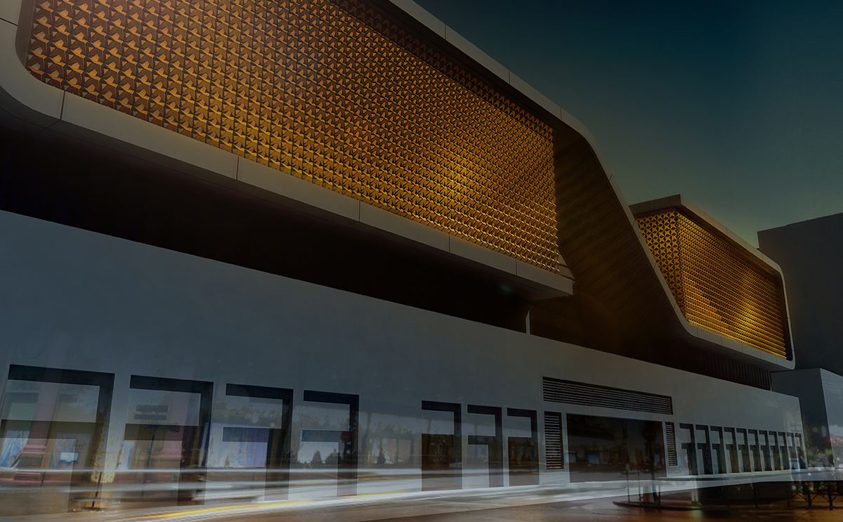 Esquisse du projet lumière - Souk Entertainment Center, Beyrouth, Liban - Architecte Valode et Pistre - Concepteur lumière et dessin Caï Light