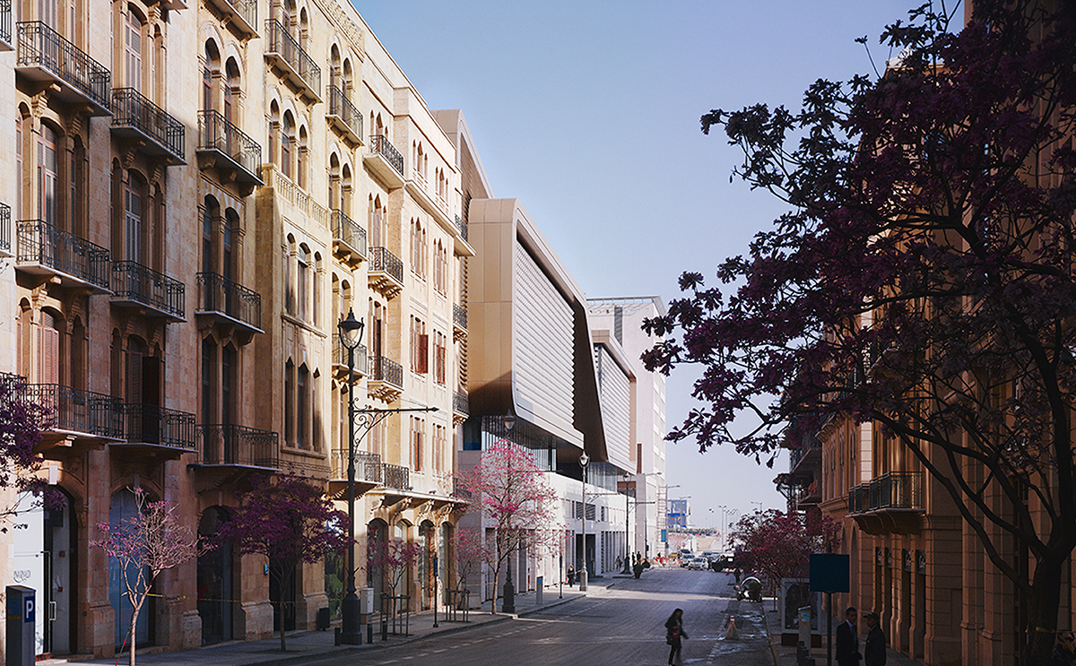 Vue de la rue, de jour - Souk Entertainment Center, Beyrouth, Liban - Architecte et photo Valode et Pistre