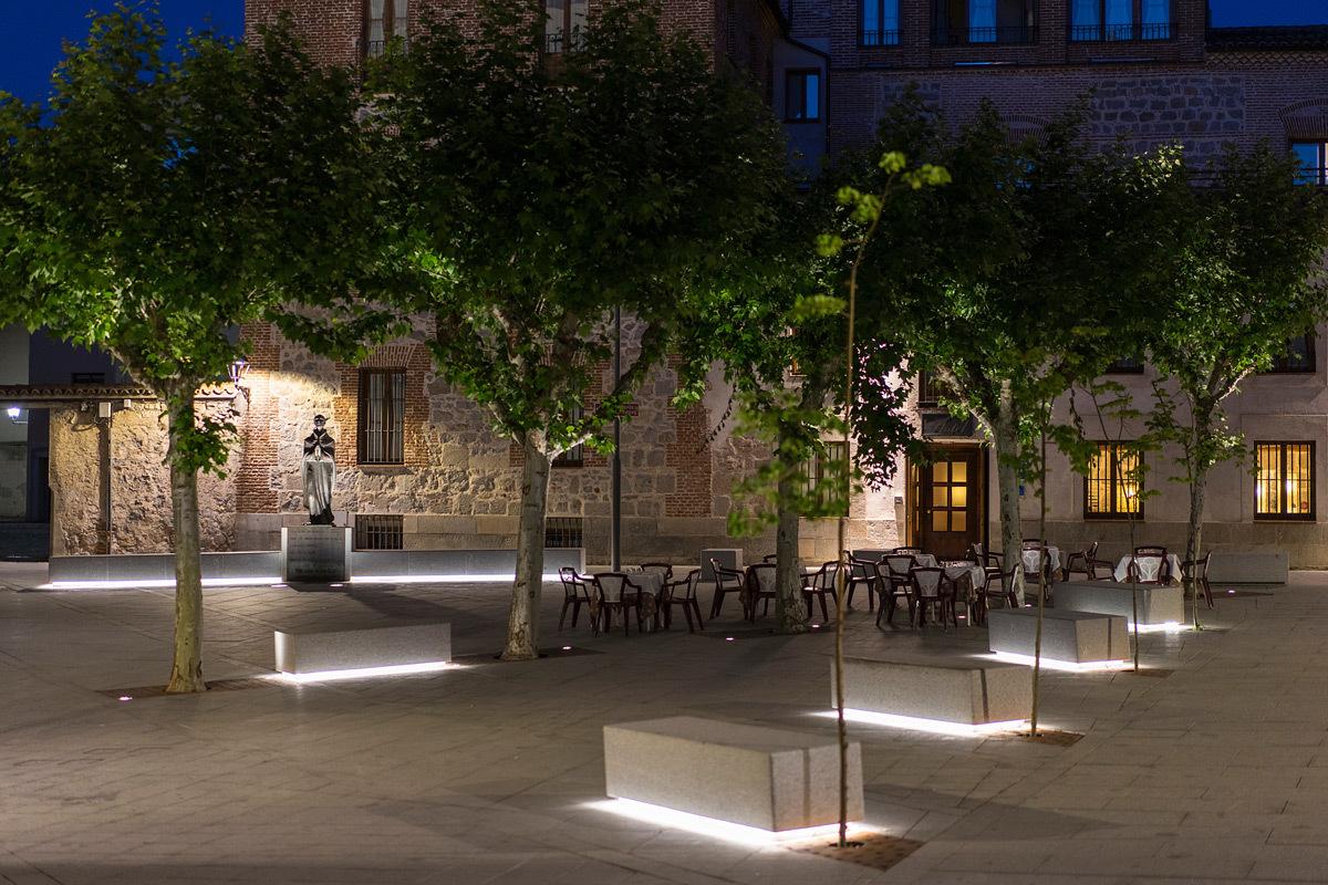 plan lumiere ville d 39 avila espagne conception lumiere rafael gallego aureo lighting light. Black Bedroom Furniture Sets. Home Design Ideas