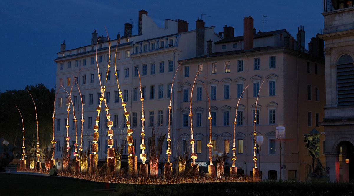 Arboré'lum - Place Louis Pradel © Erik Barray, Atelier Erik Barray - Simulation Fête des lumières 2015, Lyon