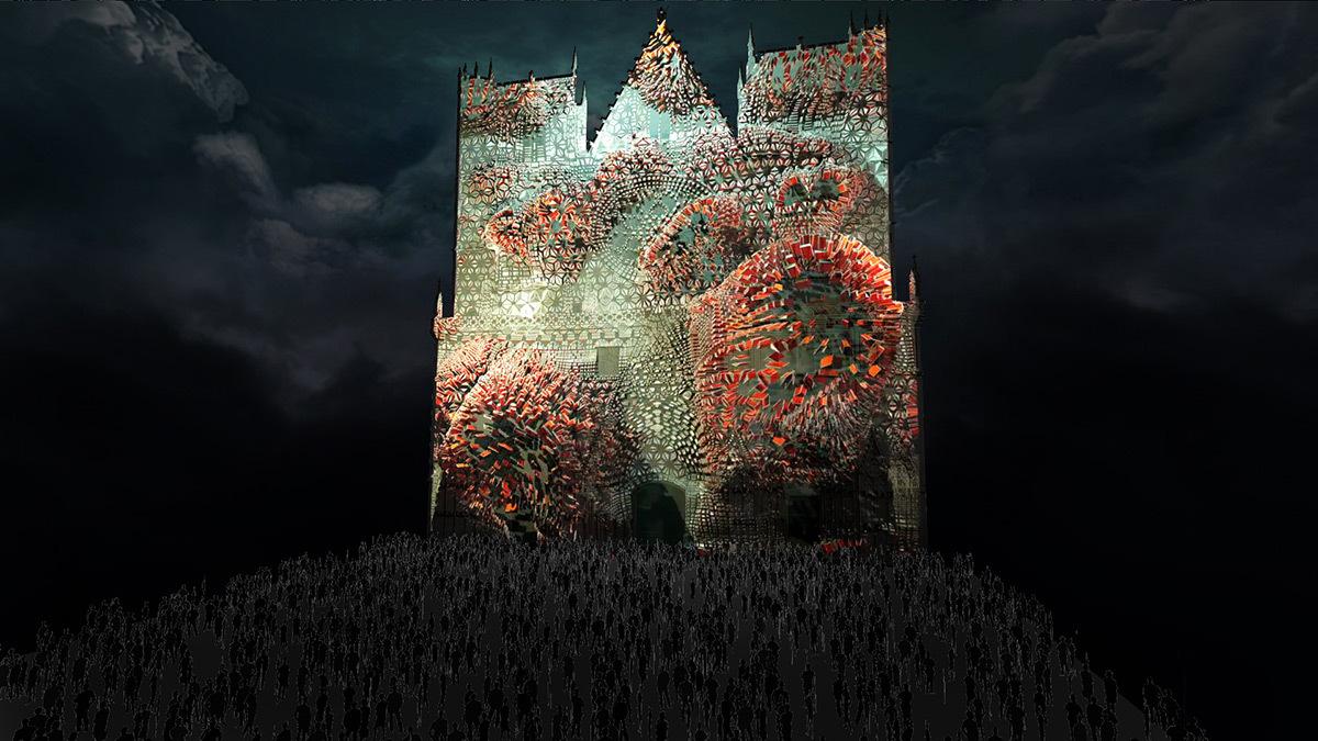 Evolutions - Cathédrale Saint-Jean © Yann Nguema, EZ3kiel - Simulation de la Fête des lumières 2015 reportée, Lyon