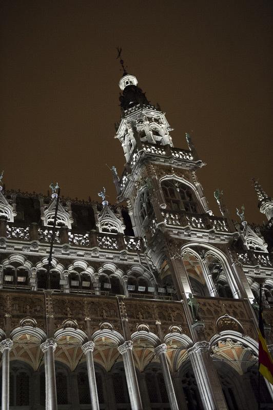 Grand-Place de Bruxelles, Belgique - Maison du Ro - Conception lumière : Isabelle Corten, Radiance35 et Patrick Rimoux, Agence Patrick Rimoux - Photo : Jonathan Berger / BRG