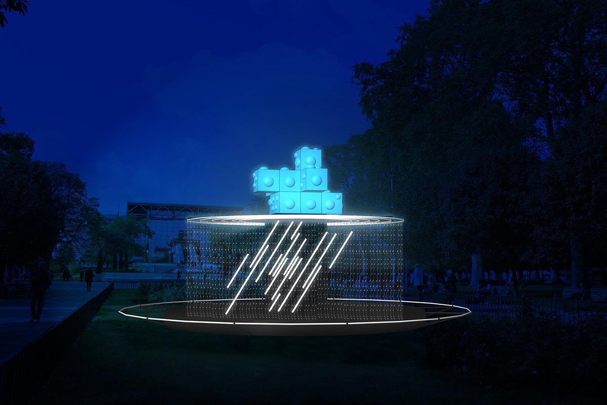 Noctilux - Place Carnot © Philippe Morvan - Simulation de la Fête des lumières 2015 reportée, Lyon