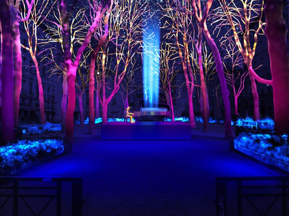 Un piano sous la Neige - Place Sathonay © Jean-Luc Hervé, Les Orpailleurs de Lumière - Simulation de la Fête des lumières 2015 reportée, Lyon