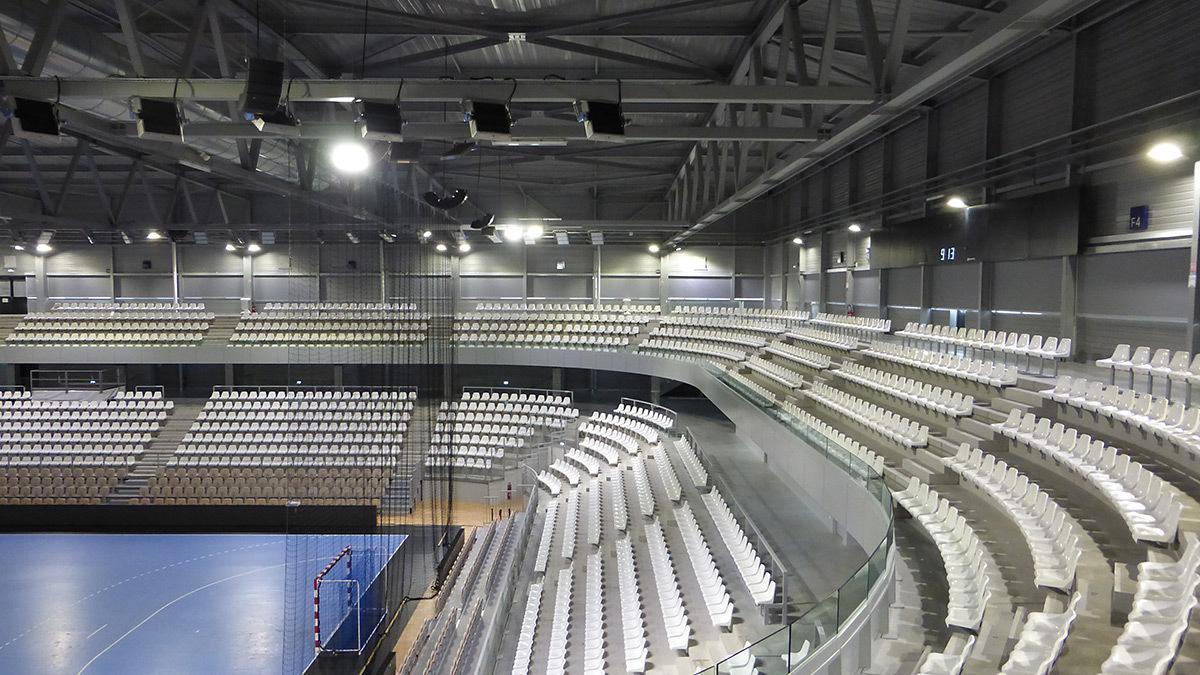 Arène du niveau 2 - Salle sportive métropolitaine de Nantes Métropole, Rezé, France - Architectes Chaix & Morel et Associés - Photo Vincent Laganier
