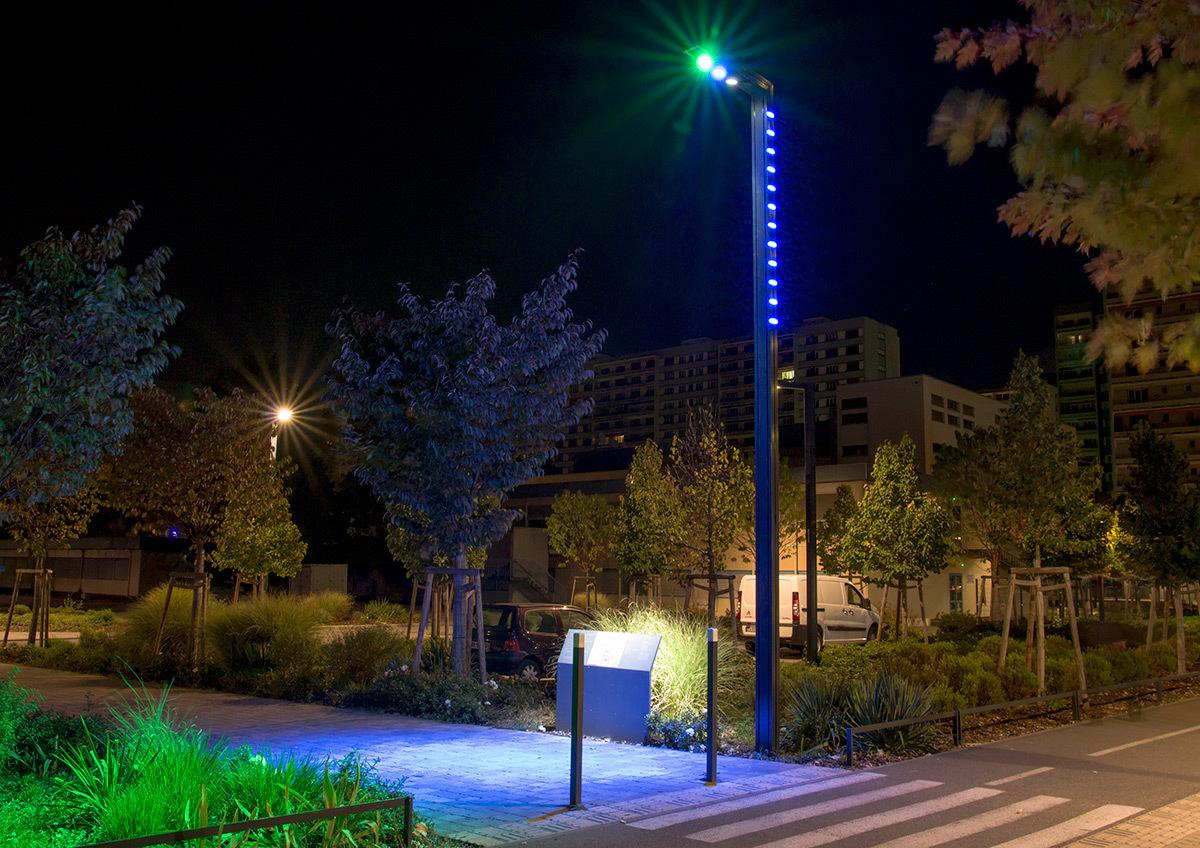 Hypernuit au parc de l 39 universit de strasbourg light for Lumiere entree