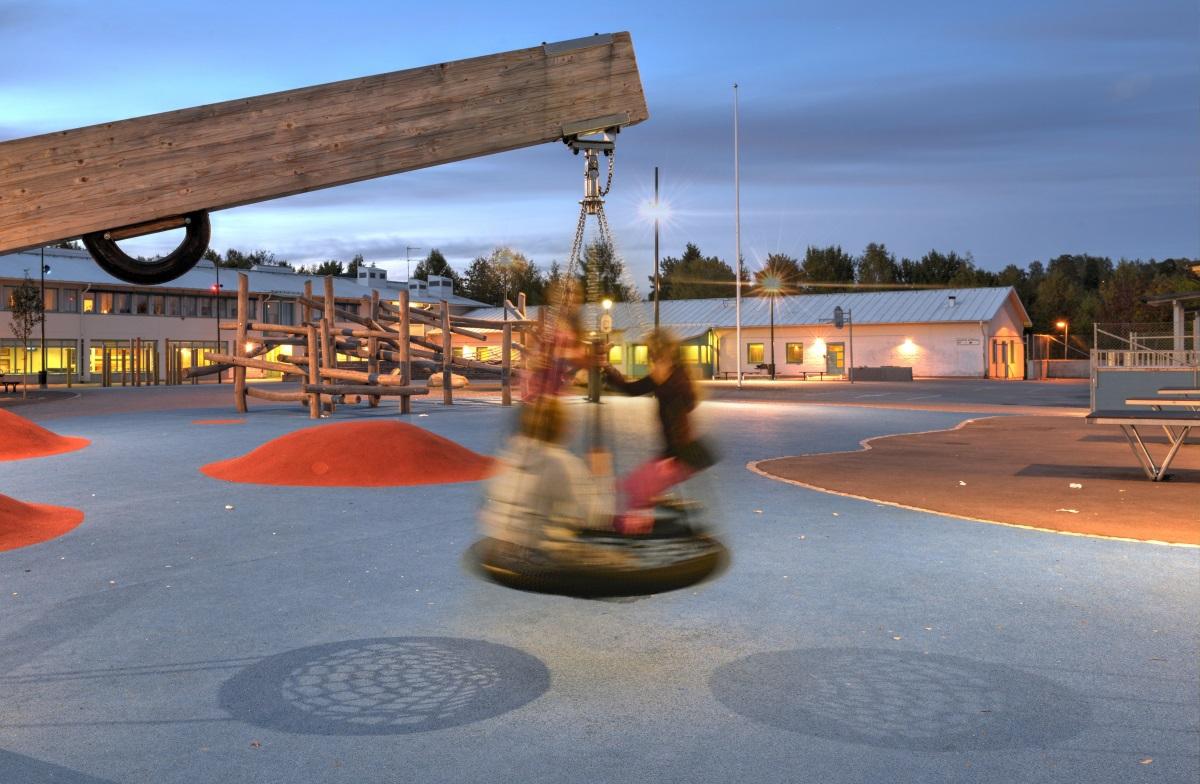 Ecole Säby, municipalité deSalem, Suède - Conception lumiere et photo : ÅF Lighting