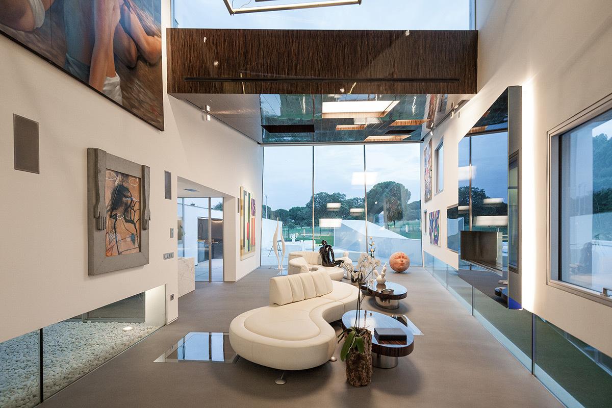 Casa H, Madrid, Espagne - Architecte : Abiboo Architecture - Conception lumière : I.C.O.N. © Joao Morgado