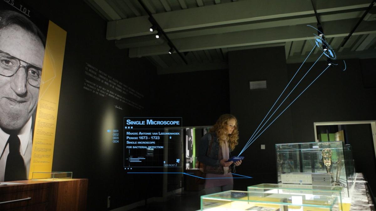 Boerhaave Museum : Li-Fi et application Indoor Positioning de Philips ©Philips