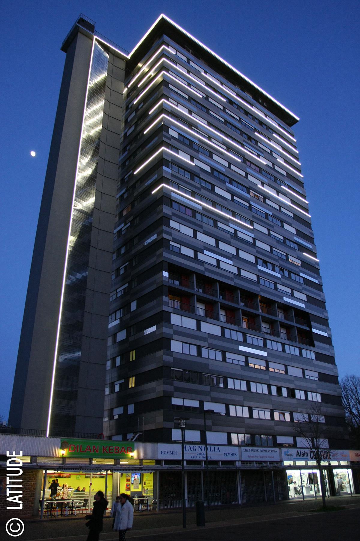 lignes horizontales de la tour sarah bernhardt rennes light zoom lumi re le portail de la. Black Bedroom Furniture Sets. Home Design Ideas