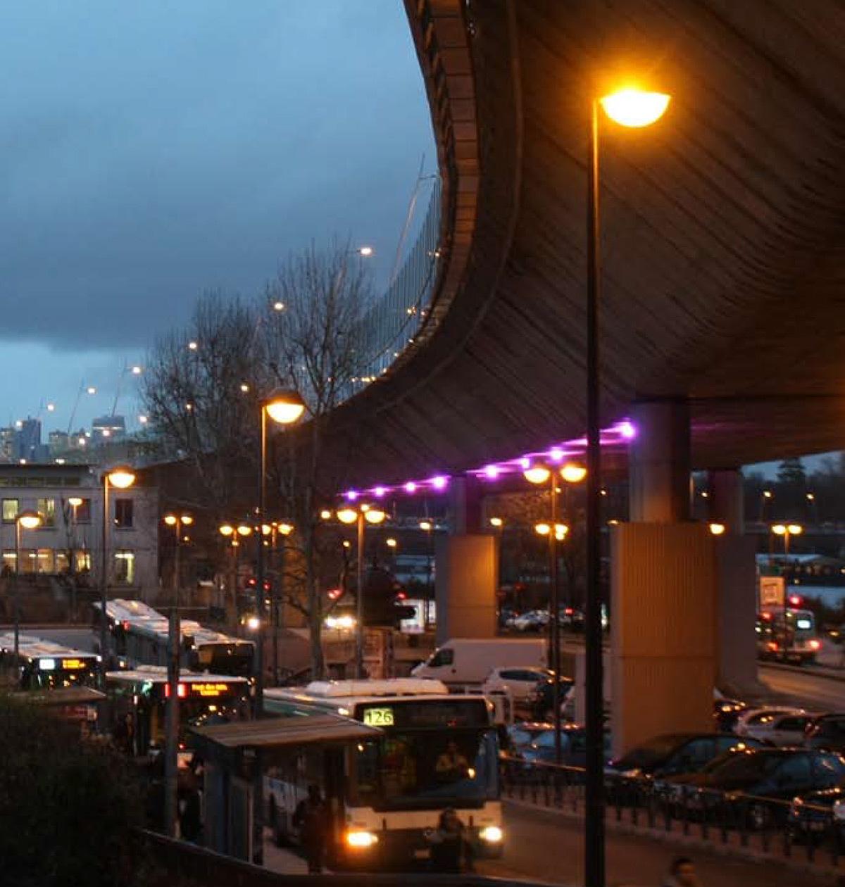 Limbe, viaduc A13, Saint-Cloud - prototype, janvier-mars 2016 - Photo : Sophie Bruère