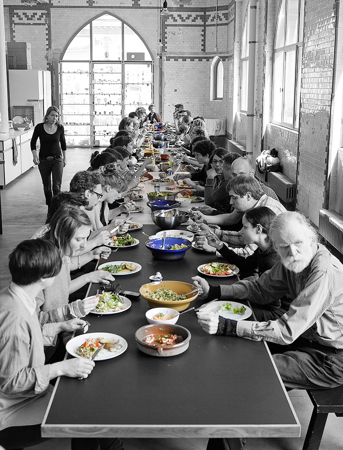 Déjeuner au Studio Olafur Eliasson - Photo Maria del Pilar García Ayensa © Studio Olafur Eliasson (page 36)