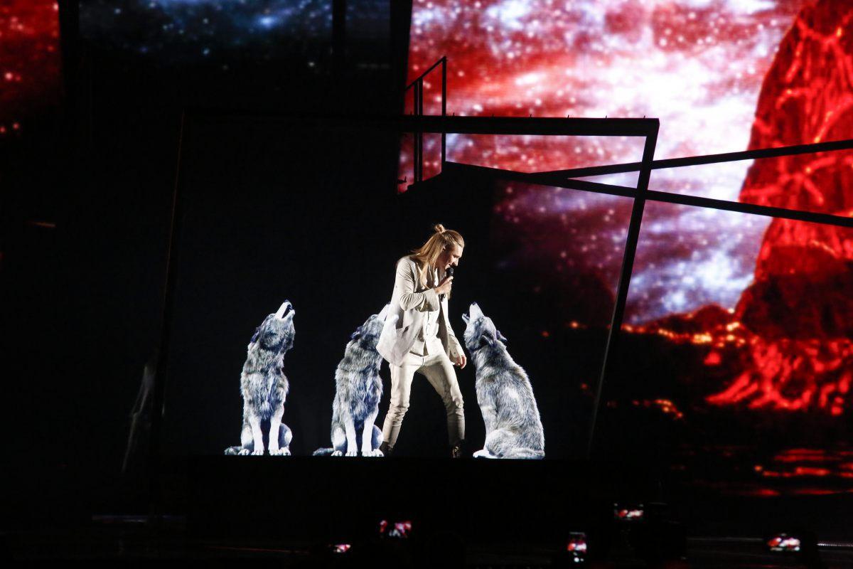 Biélorussie, Ivan, demi-finale Eurovision 2016, Stockholm Globe Arenas, Suede © Thomas Hanses (EBU)
