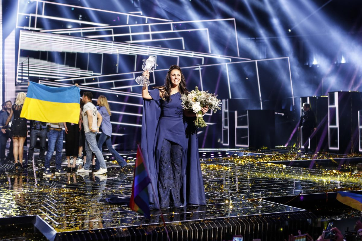 Ukraine, Jamala, gagnante Eurovision 2016, concours de la chanson, Stockholm Globe Arenas, Suède © Thomas Hanses (EBU)