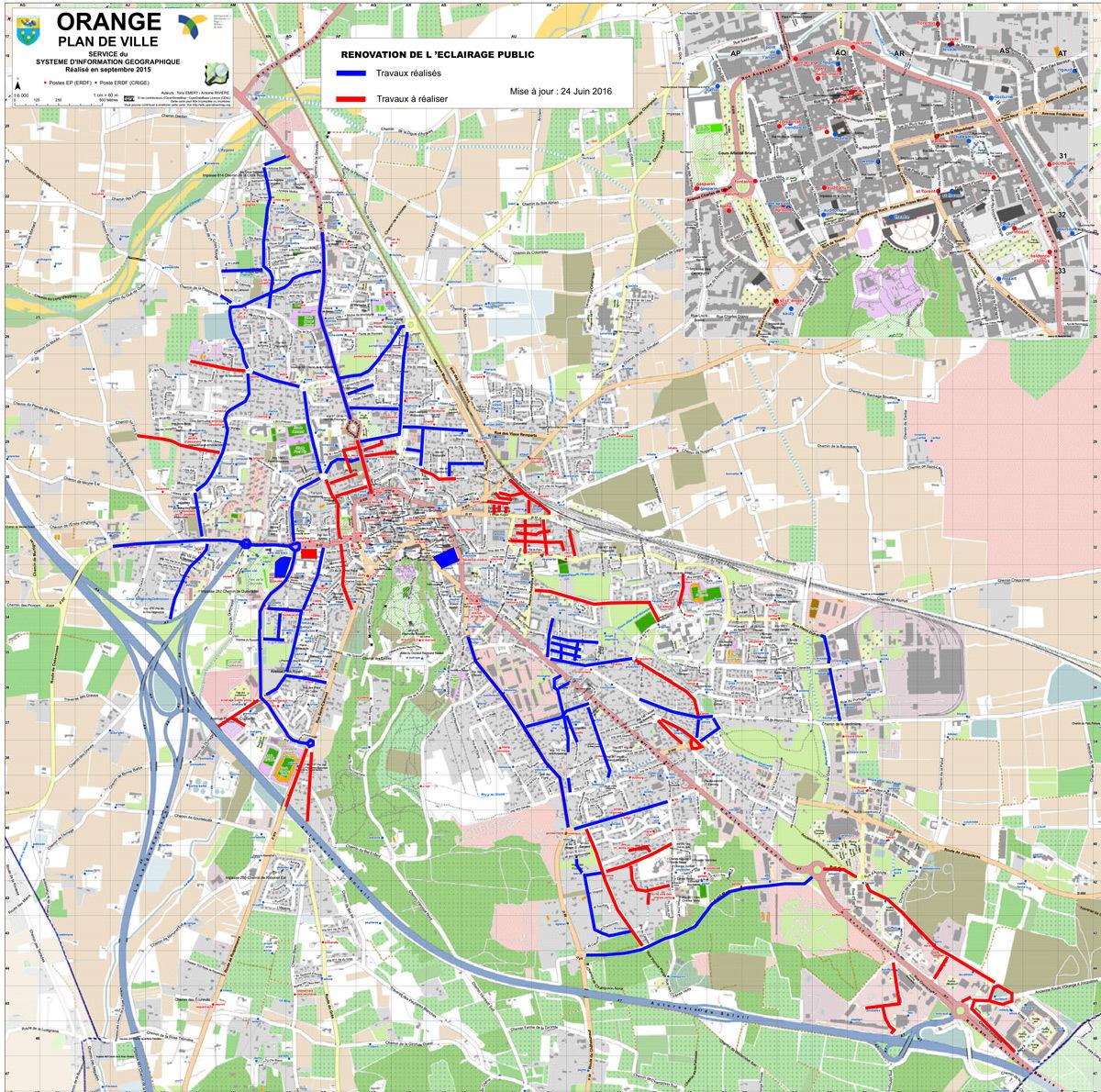 Eclairage public - plan de rénovation en 2016 - Ville d'Orange © CCPRO
