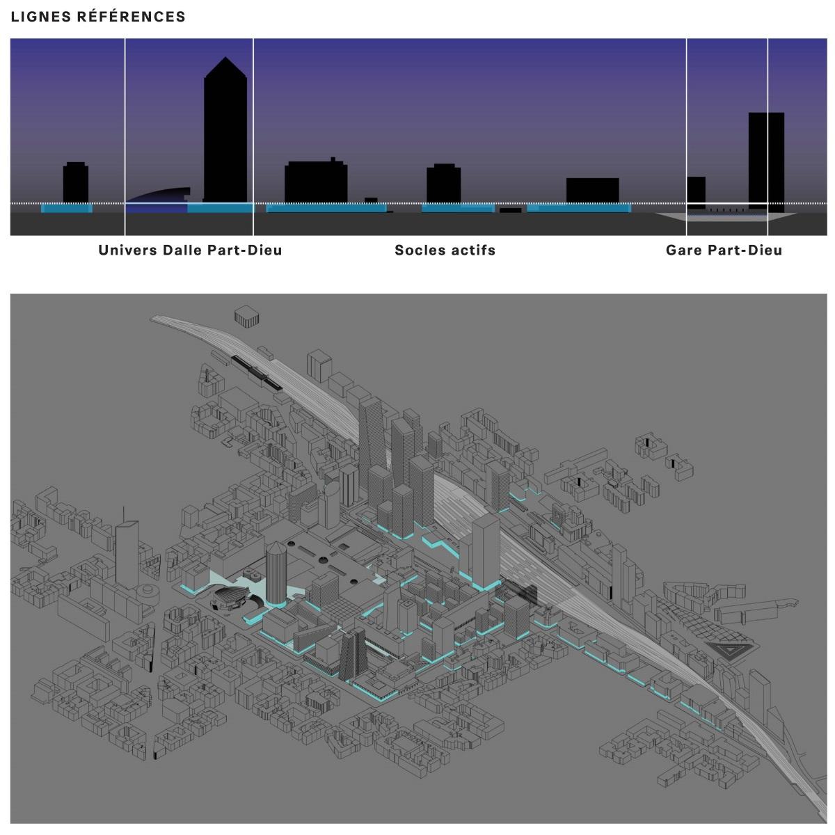 Lumi res part dieu plan lumi re d 39 un grand projet urbain for Agence lignes paysage