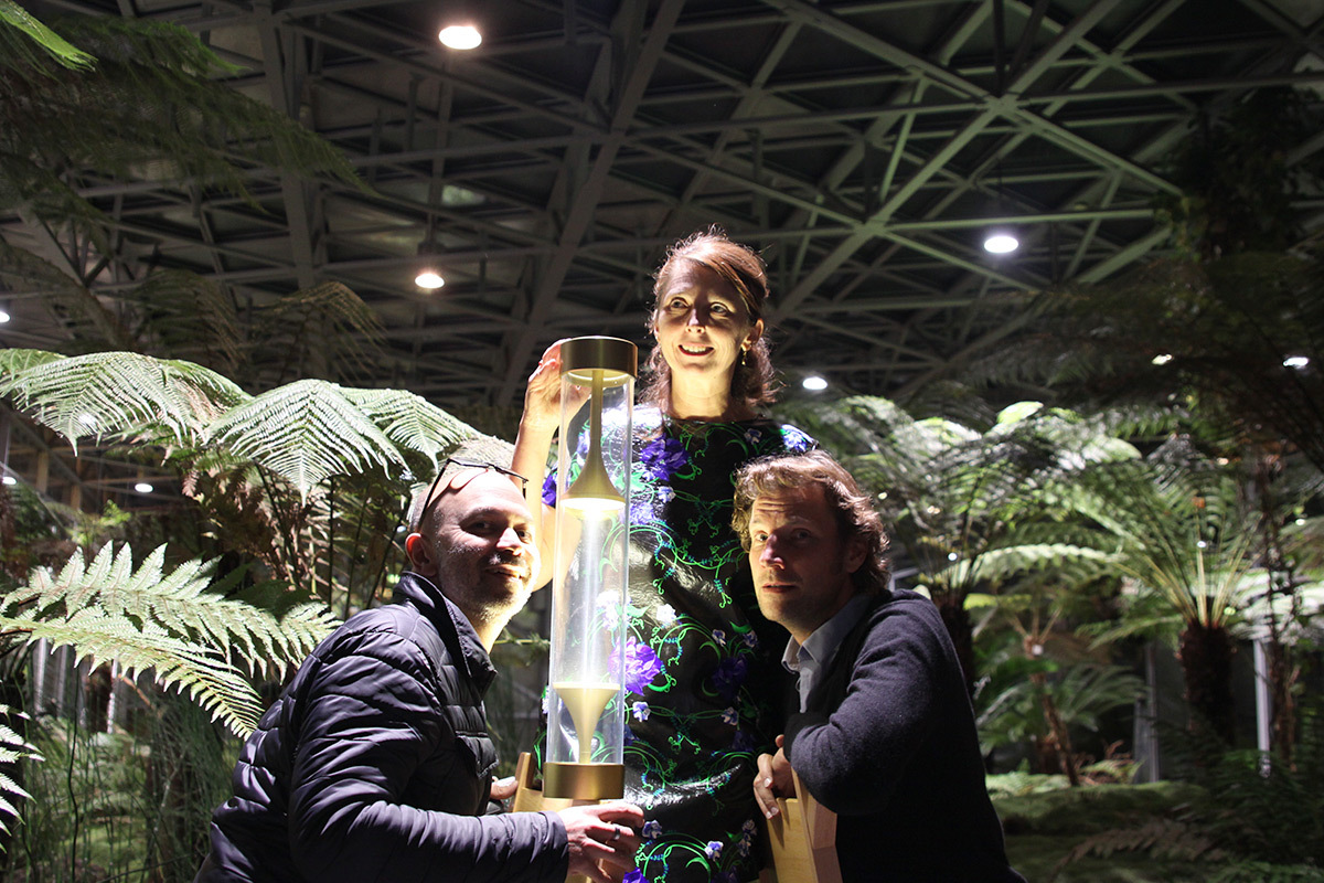Bruno Giraudeau, Isabelle Rolland, Igor Syrovatski - Coup de coeur de la conception lumière intérieure ACE 2016 - trophee DGA - Photo ACE