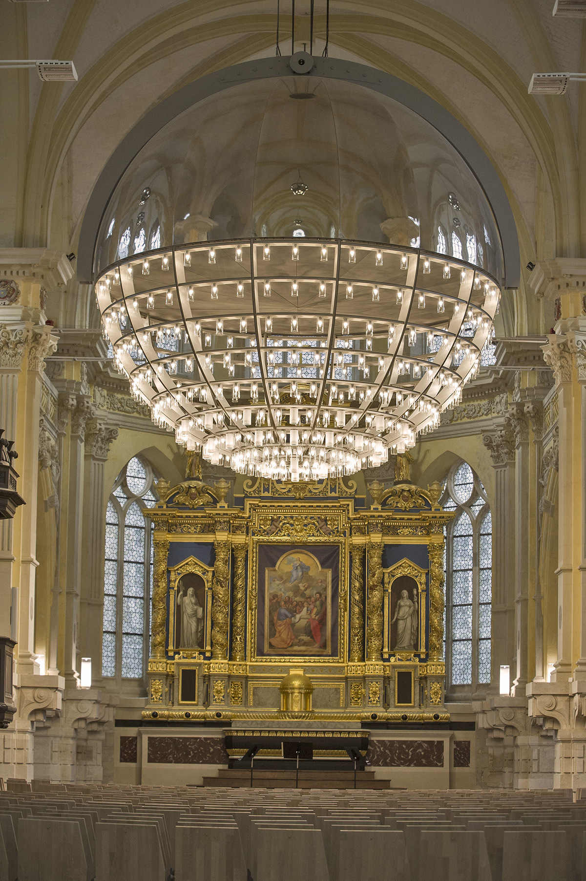 Chapelle Corneille - Conception lumière : Wonderfulight © Antoine Guilhem Ducleon