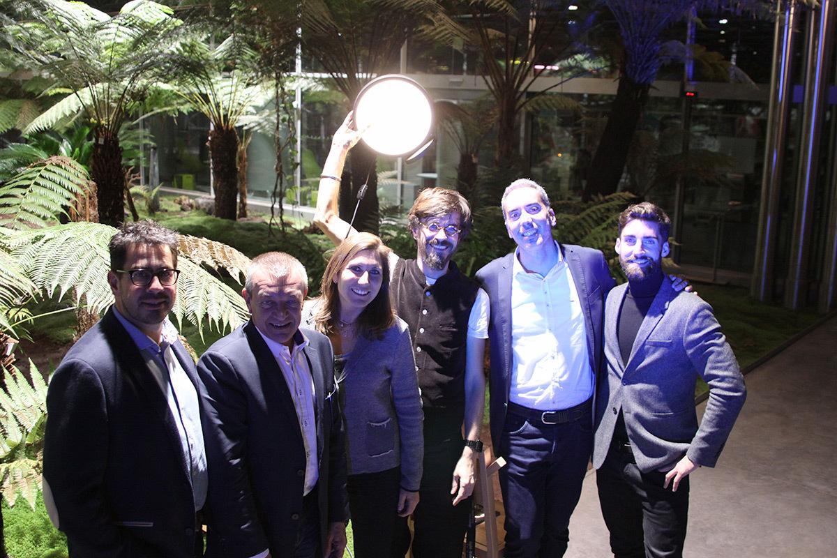 Joseph Frey et équipe LAMP - Prix de la conception lumière extérieure ACE 2016 - trophee LAMP - Photo ACE
