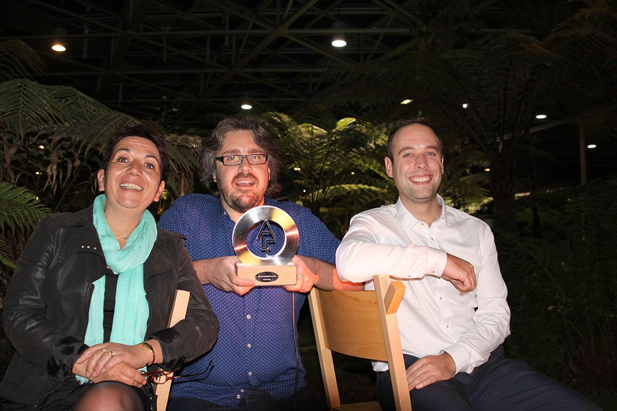 Sandrine Tété, Stéphane Servant, Nicolas Hagnère - Prix petit projet lumière ACE 2016 - trophée TMC - Photo ACE