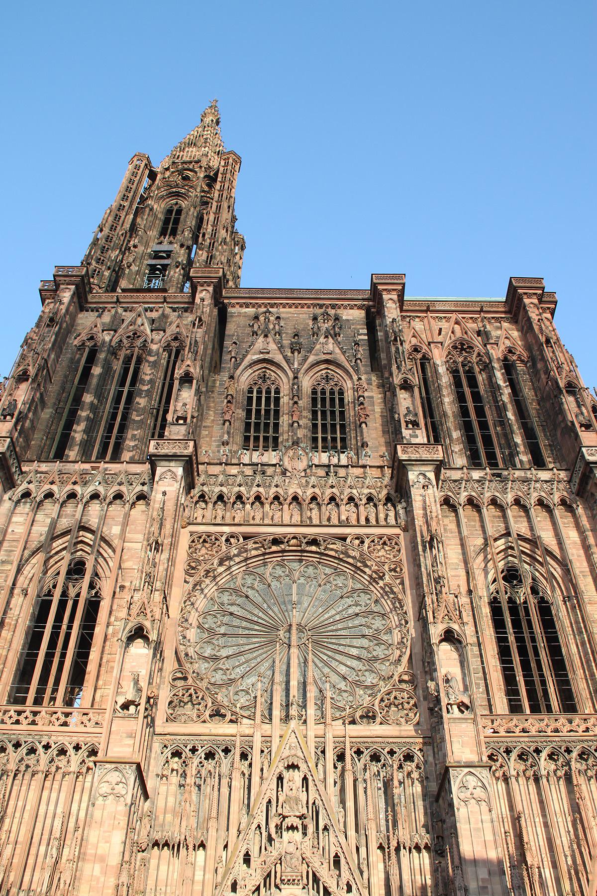 Façade occidentale - Cathédrale Notre Dame, Strasbourg, France - de jour © Vincent Laganier