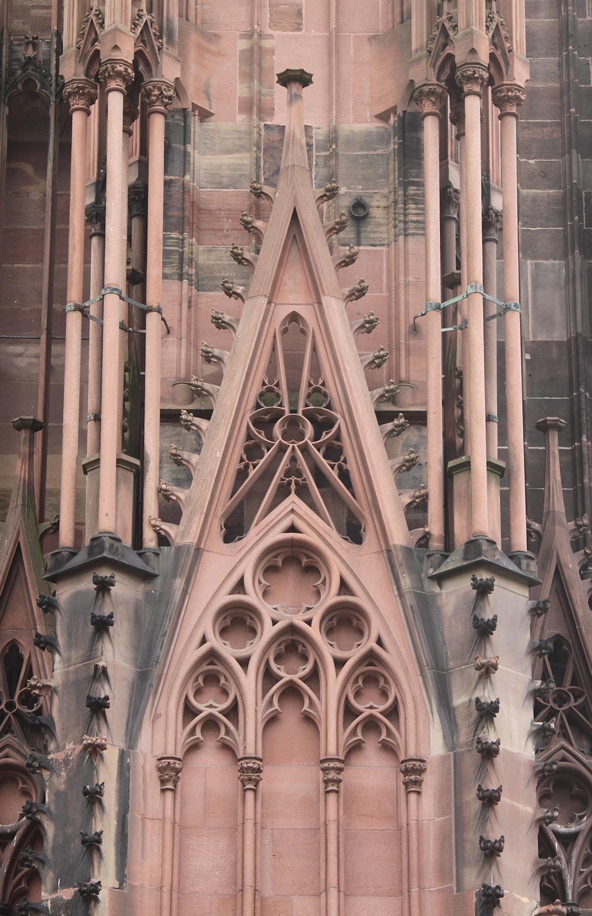 Cathédrale Notre-Dame, Strasbourg, France - détail de la façade vue de jour © Vincent Laganier