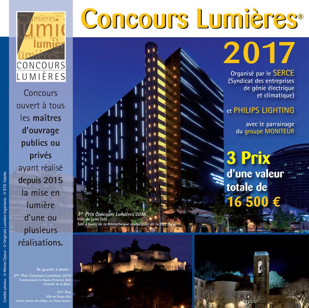 concours lumi res 2017 light zoom lumi re portail de la lumi re et de l 39 clairage. Black Bedroom Furniture Sets. Home Design Ideas