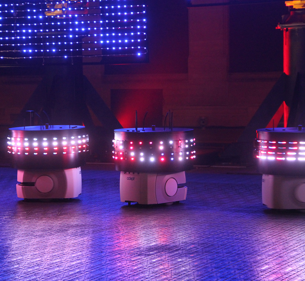 Roboticum, place Bellecour, Lyon, France - Yves Moreaux - Fête des lumières 2016, Lyon, France - Photo : Vincent Laganier