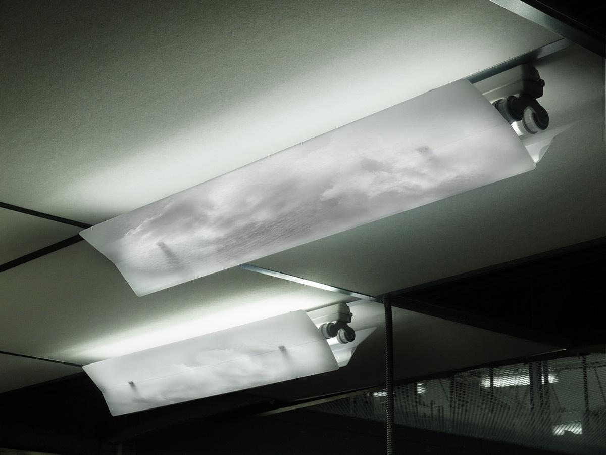 Sous les nuages exactement éclairage tamisé des bureaux lu
