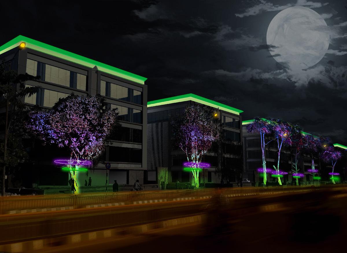 rues lumineuses du quartier d affaires sumel 6 en inde light zoom lumi re le portail de la. Black Bedroom Furniture Sets. Home Design Ideas