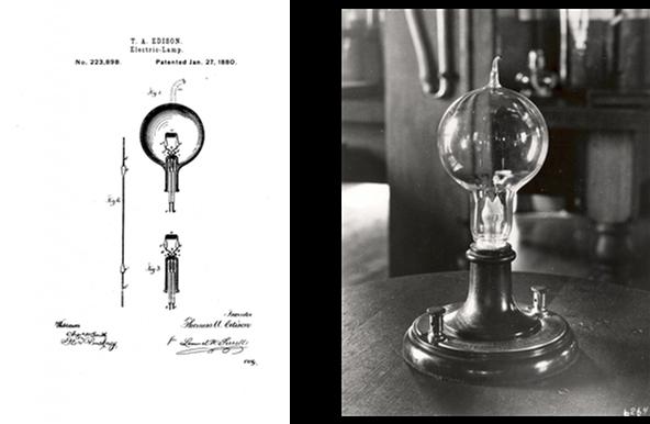 Brevet Et Photo Premiere Lampe Incandescence Light Zoom Lumiere
