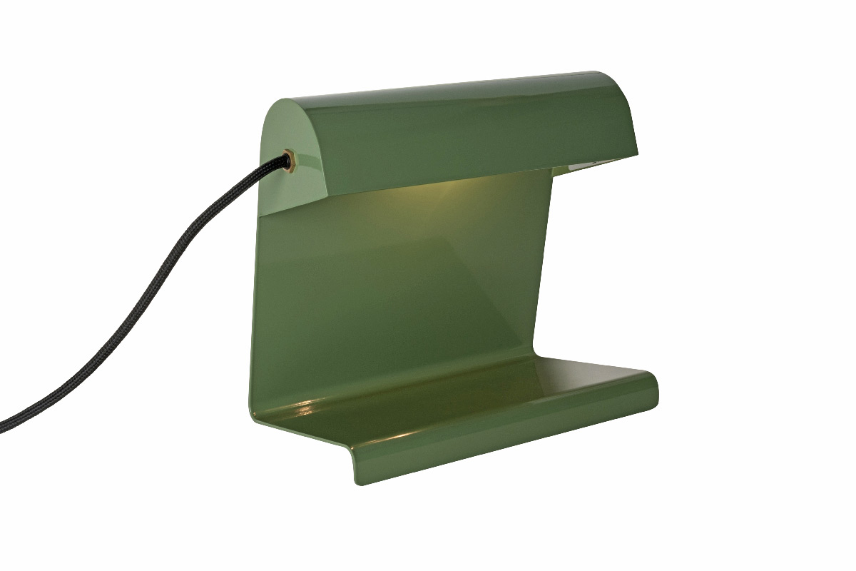 lampe de bureau 1930 jean prouve vert industriel 225 x 240 x 145 cm vitra 3 light zoom. Black Bedroom Furniture Sets. Home Design Ideas