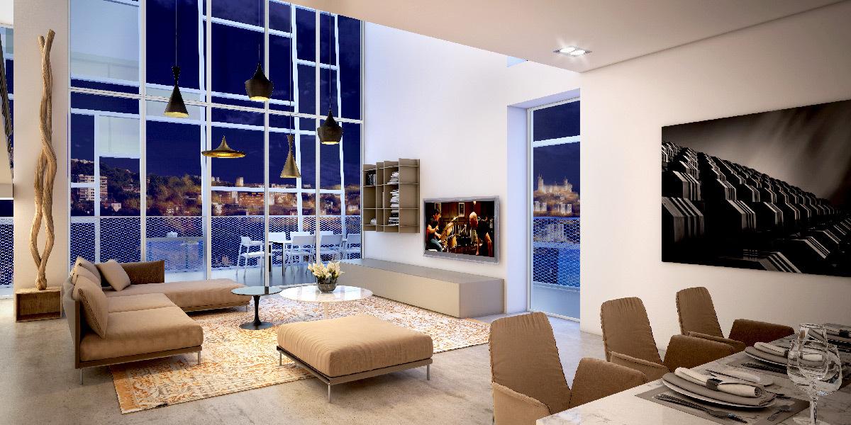 r sidence ycone de jean nouvel lyon confluence light zoom lumi re le portail de la lumi re. Black Bedroom Furniture Sets. Home Design Ideas